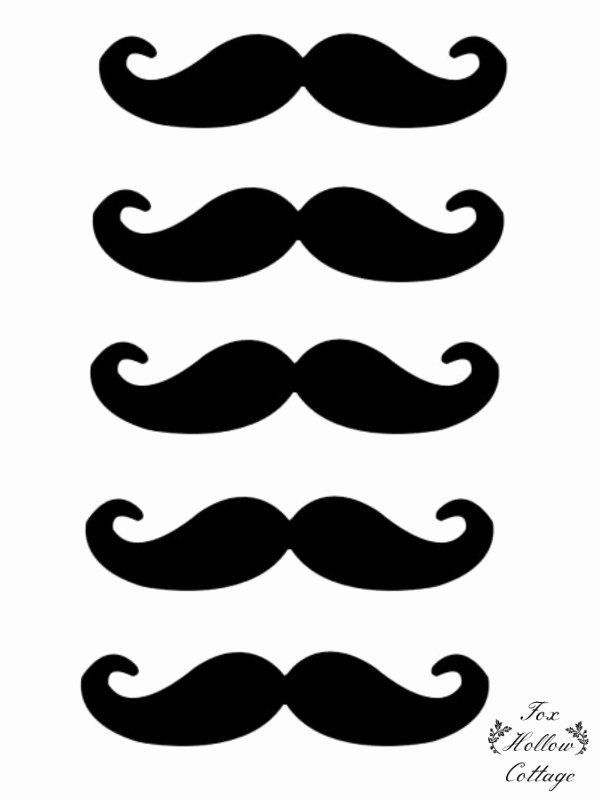 Mustache Pattern Printable New Free Lip and Mustache Printables Booth Props Fox