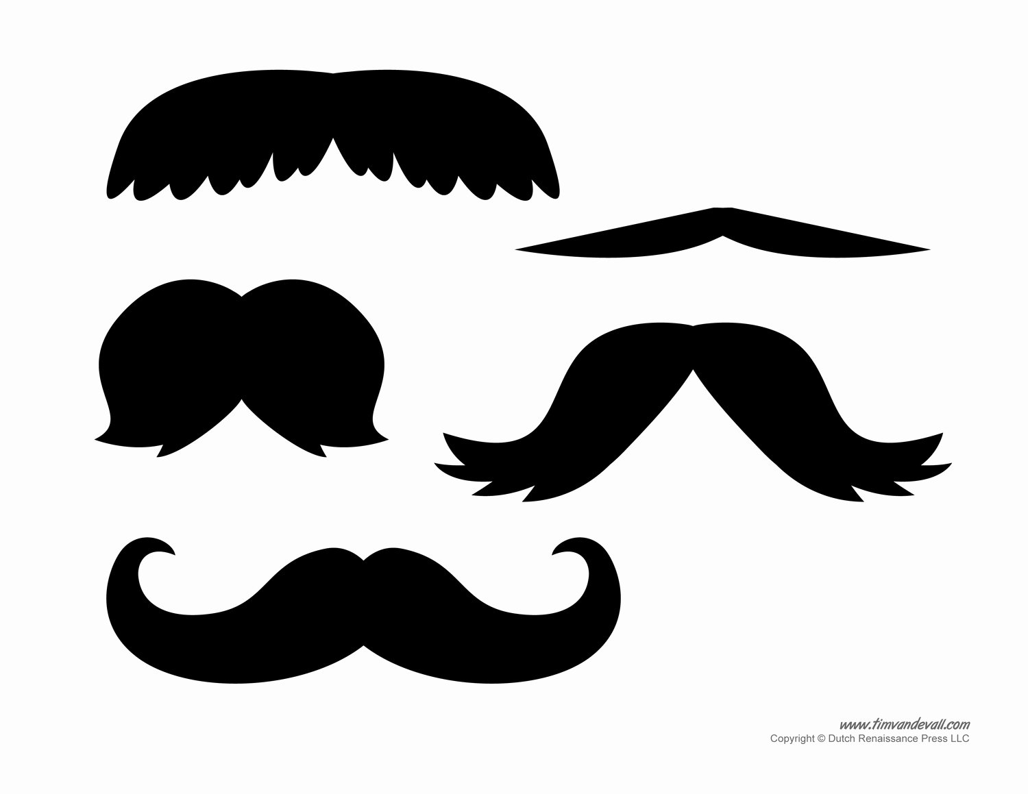 Mustache Pattern Printable New Printable Mustache Templates
