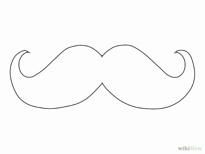 Mustache Pattern Printable Unique Beard Clipart Mustache Template Pencil and In Color