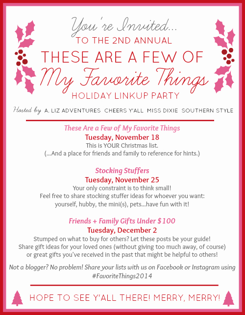 My Favorite Things List Template Inspirational Raising southern Grace these are A Few Of My Favorite