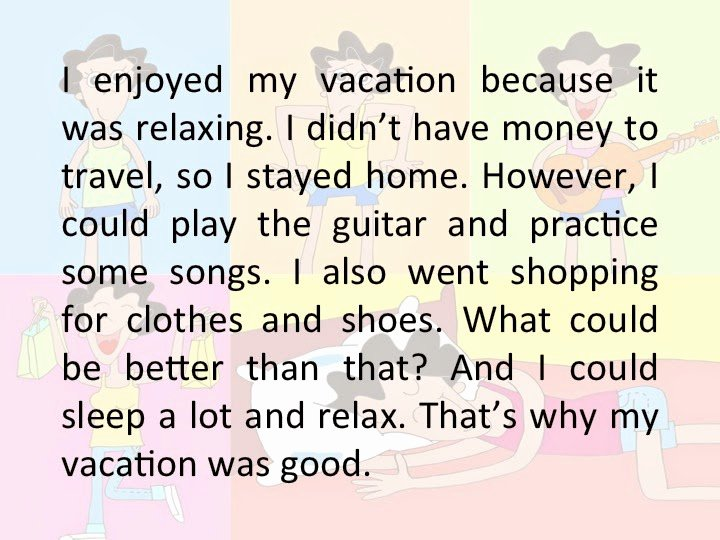 My Summer Vacation Paragraph Awesome Draw My attention Draw Your Vacation