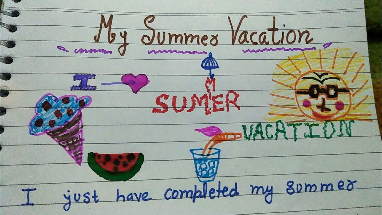 My Summer Vacation Paragraph Fresh Short and Small Paragraph On How I Spend My Summer