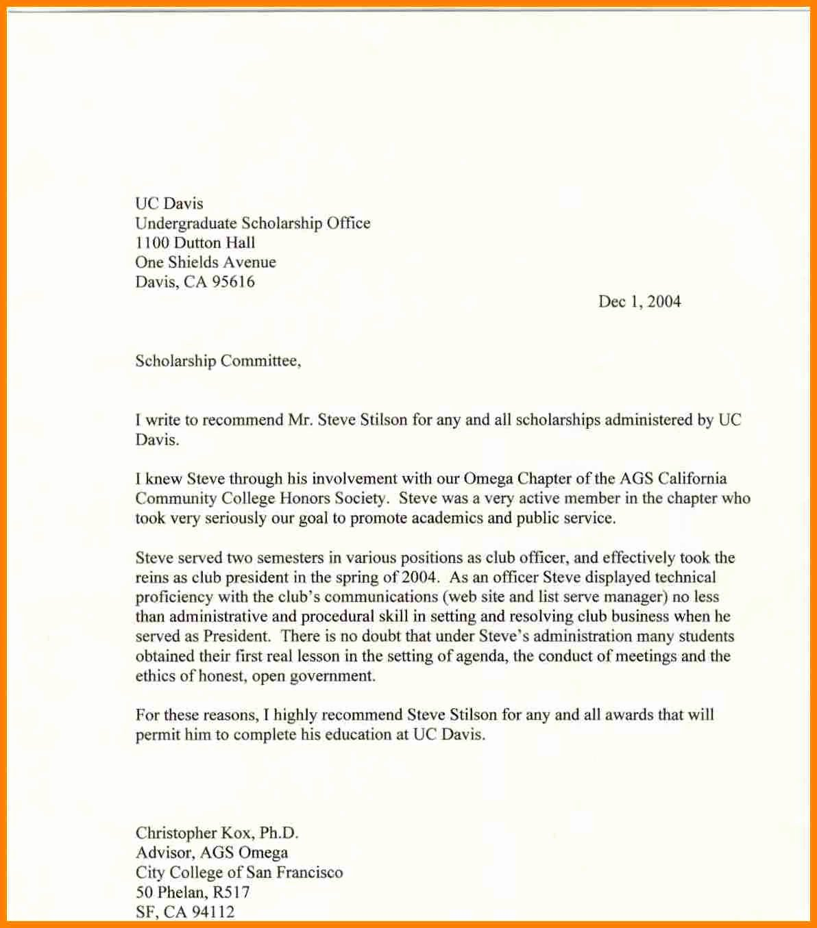 National Honor society Application Examples Beautiful 12 Re Mendation Letter for National Honor society