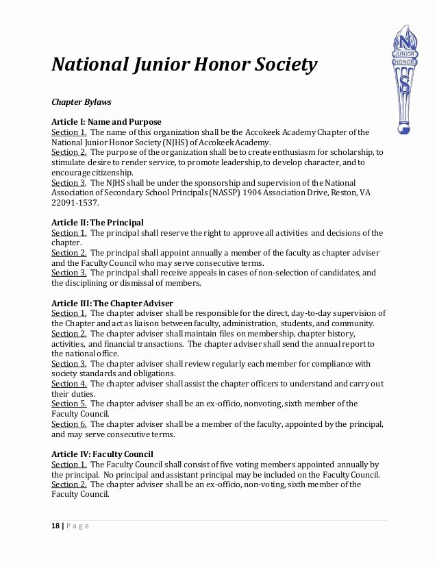 National Honor society Application Examples Luxury Handbook