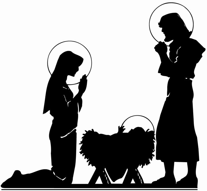 Nativity Scene Silhouette Pattern Awesome Nativity Silhouette Inspiration