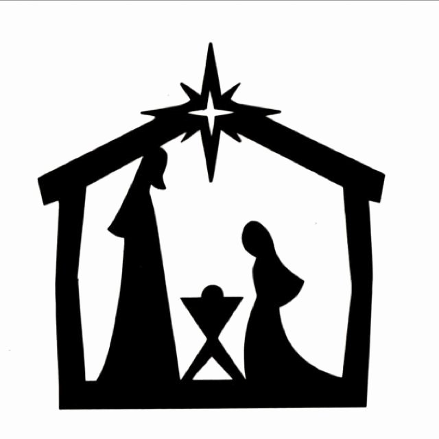 Nativity Scene Silhouette Pattern Awesome Silhouette