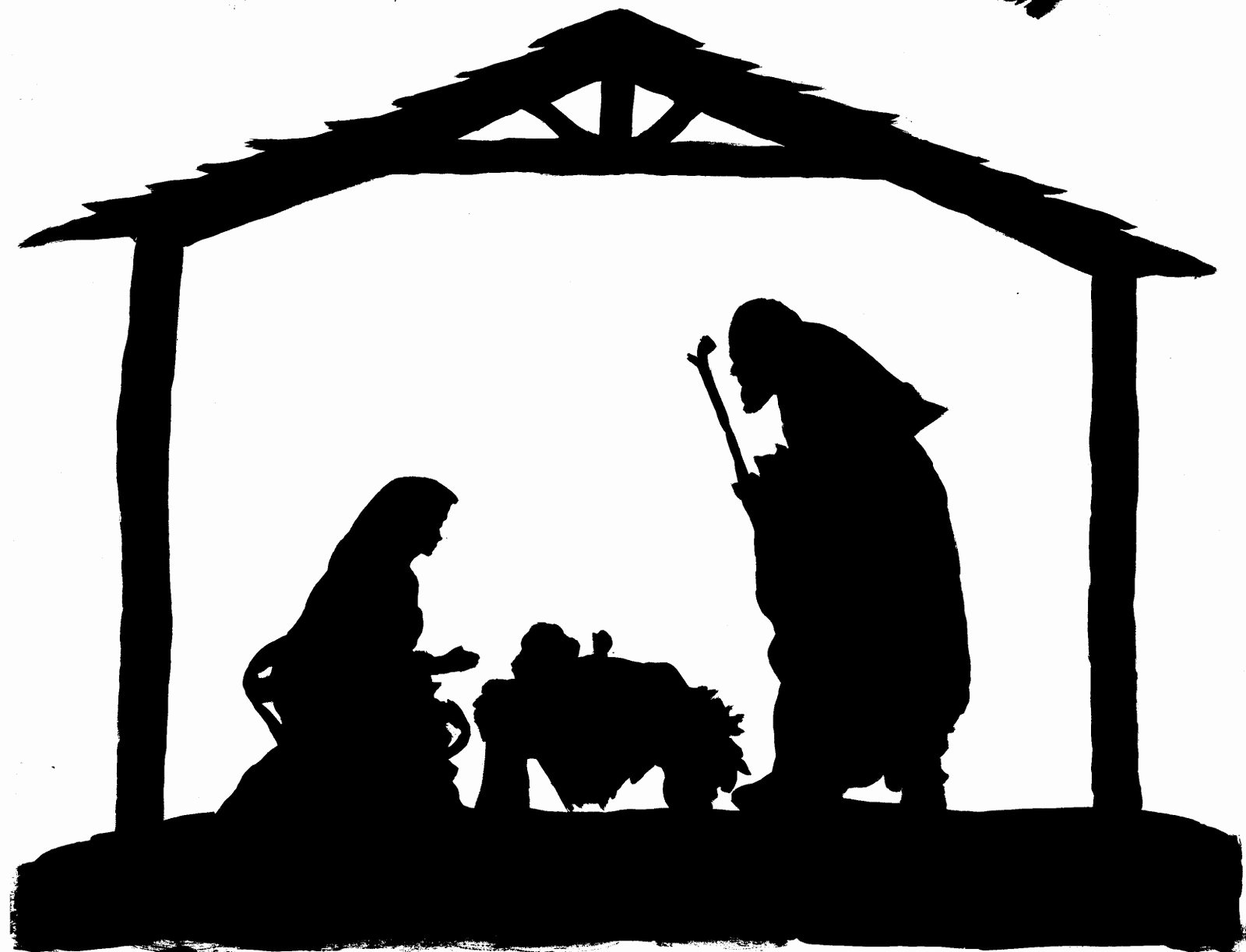 Nativity Scene Silhouette Pattern Beautiful Nativity Silhouette Patterns Clipart Best