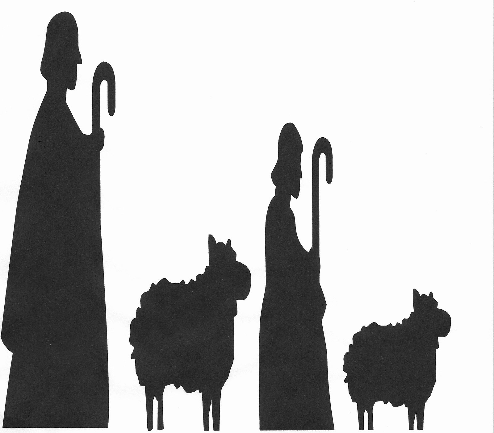 Nativity Scene Silhouette Pattern Free Elegant Nativity Silhouette Patterns Cliparts