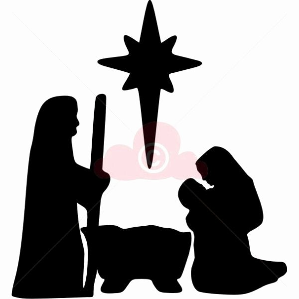 Nativity Scene Silhouette Pattern Free Fresh Easy Nativity Silhouette for Children Use Shelter