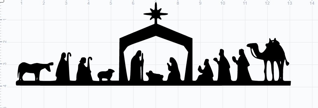Nativity Scene Silhouette Pattern Free Inspirational Nativity Scene Svg Eps Dxf Studio3 Cut File From