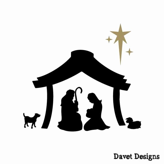 Nativity Scene Silhouette Pattern Fresh Nativity Scene Vinyl Lettering Fits Perfect On by Davetdesigns
