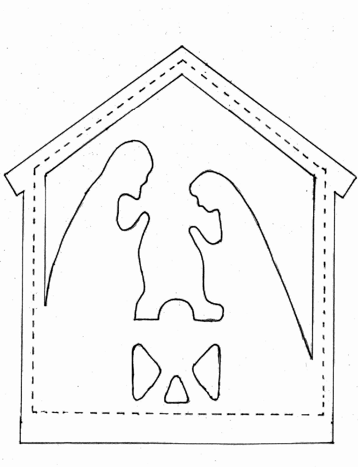 Nativity Scene Silhouette Pattern Fresh Pieces by Polly Star and Nativity Appliques Nativity In