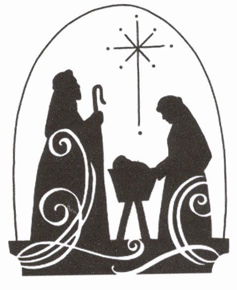 Nativity Scene Silhouette Pattern Inspirational Christmas Jesus Nativity Scene Cross Stitch Pattern