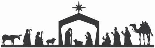Nativity Scene Silhouette Pattern Lovely Nuestro Celebracion Del Pesebre Our Bethlehem Party