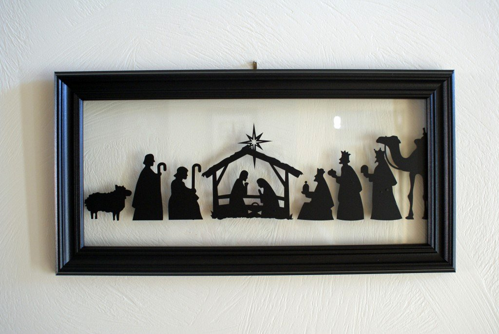 Nativity Scene Silhouette Pattern Luxury Nativity Silhouette