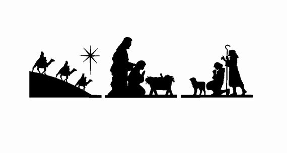 Nativity Scene Silhouette Pattern Unique Free Nativity Clipart Silhouette