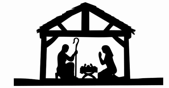 Nativity Scene Silhouette Pattern Unique Nativity Scene Silhouette