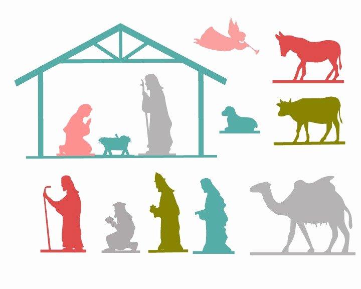 Nativity Scene Silhouette Printable Elegant the 36th Avenue Nativity Free Printable