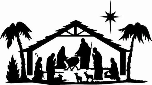 Nativity Scene Silhouette Printable Lovely Xmas Die Cut Silhouette toppers Nativity & Star X 6