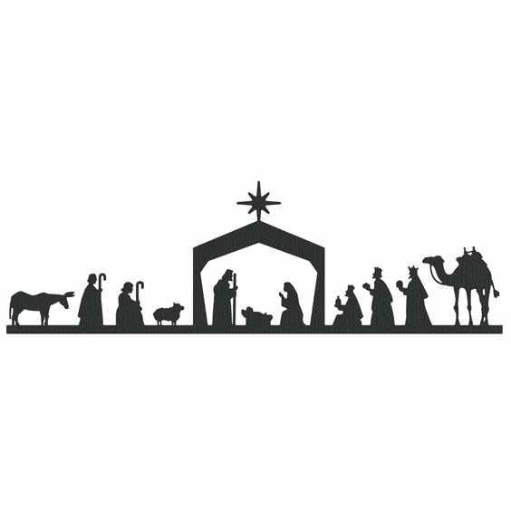 Nativity Scene Silhouette Printable Luxury Christmas Nativity Clipart Black and White – 101 Clip Art