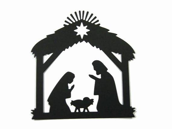Nativity Scene Silhouette Printable Luxury Detailed Paper Nativity Silhouette Die Cut Set Of 6