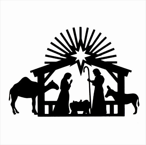 Nativity Scene Silhouette Printable Luxury Nativity Scene Silhouette Template at Getdrawings