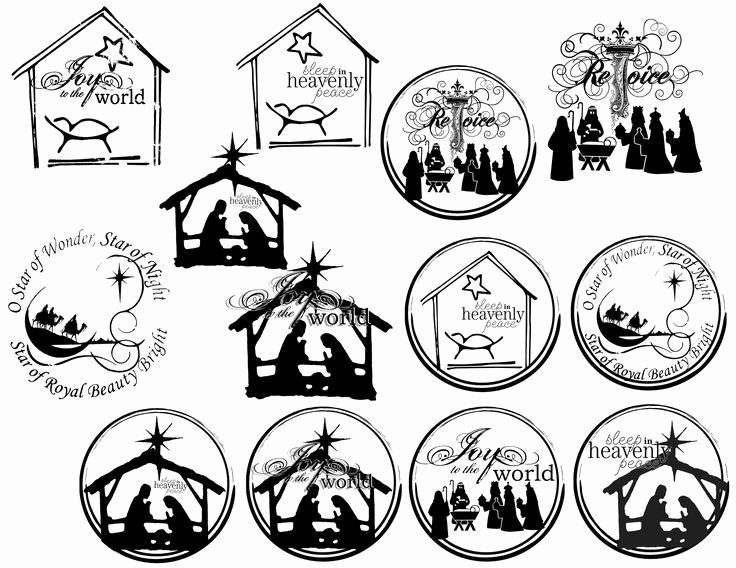 Nativity Scene Silhouette Printable New 25 Best Images About Nativity ornaments On Pinterest