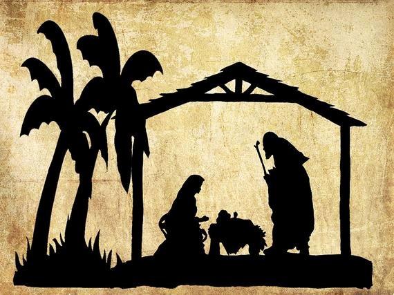 Nativity Scene Silhouette Printable Unique Nativity Silhouettenativity Artnativity Scene Christmas
