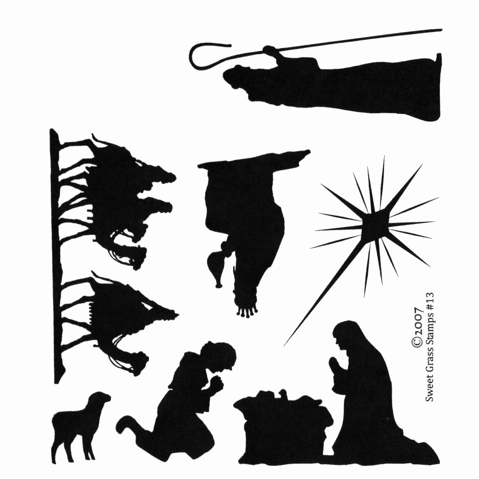 Nativity Silhouette Pattern Best Of Nativity Silhouettes 7 Christmas Unmounted Rubber Stamps