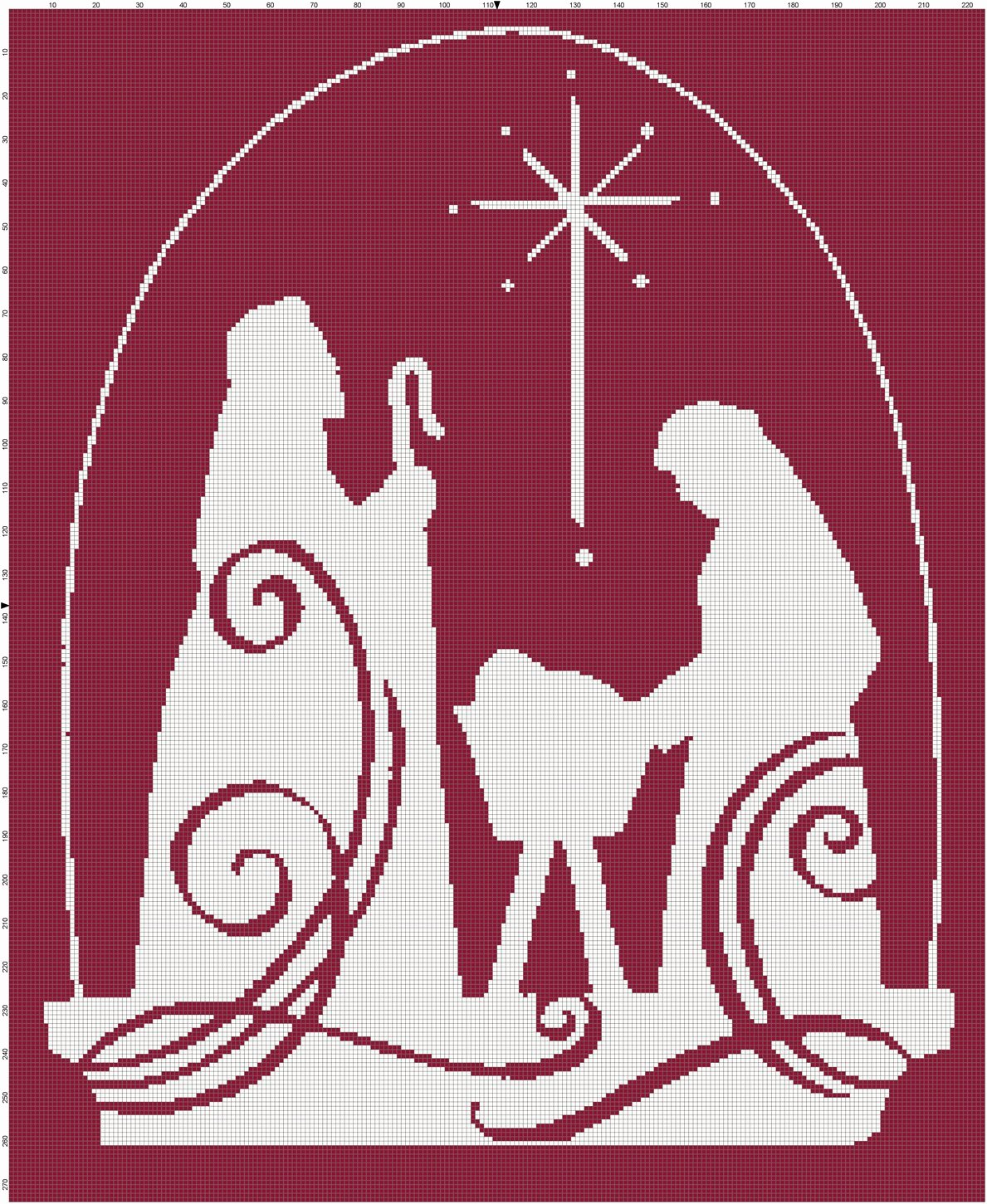 Nativity Silhouette Pattern Inspirational It's Beginning to Look A Lot Like Christmas – Cross Stitch