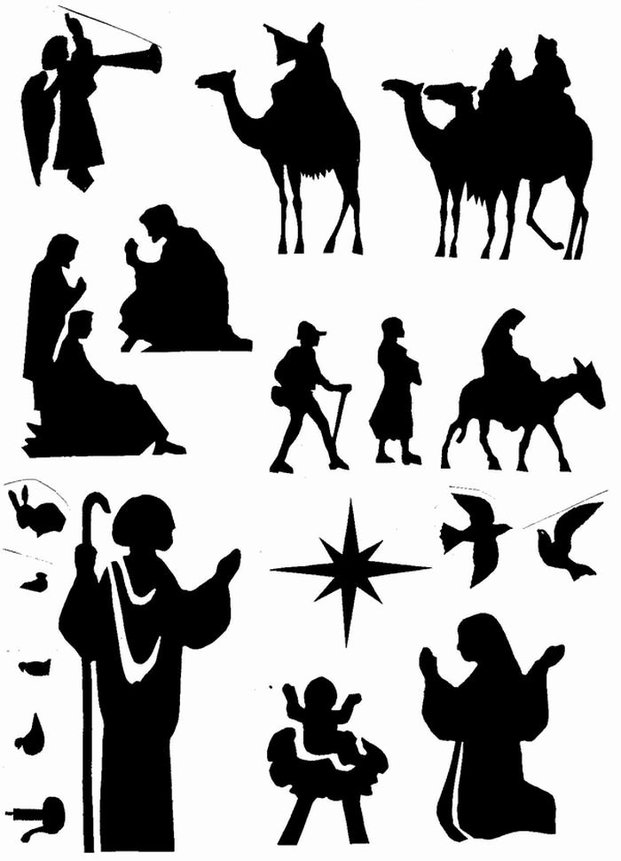 Nativity Silhouette Pattern Luxury 1000 Images About Silhouette Christmas On Pinterest