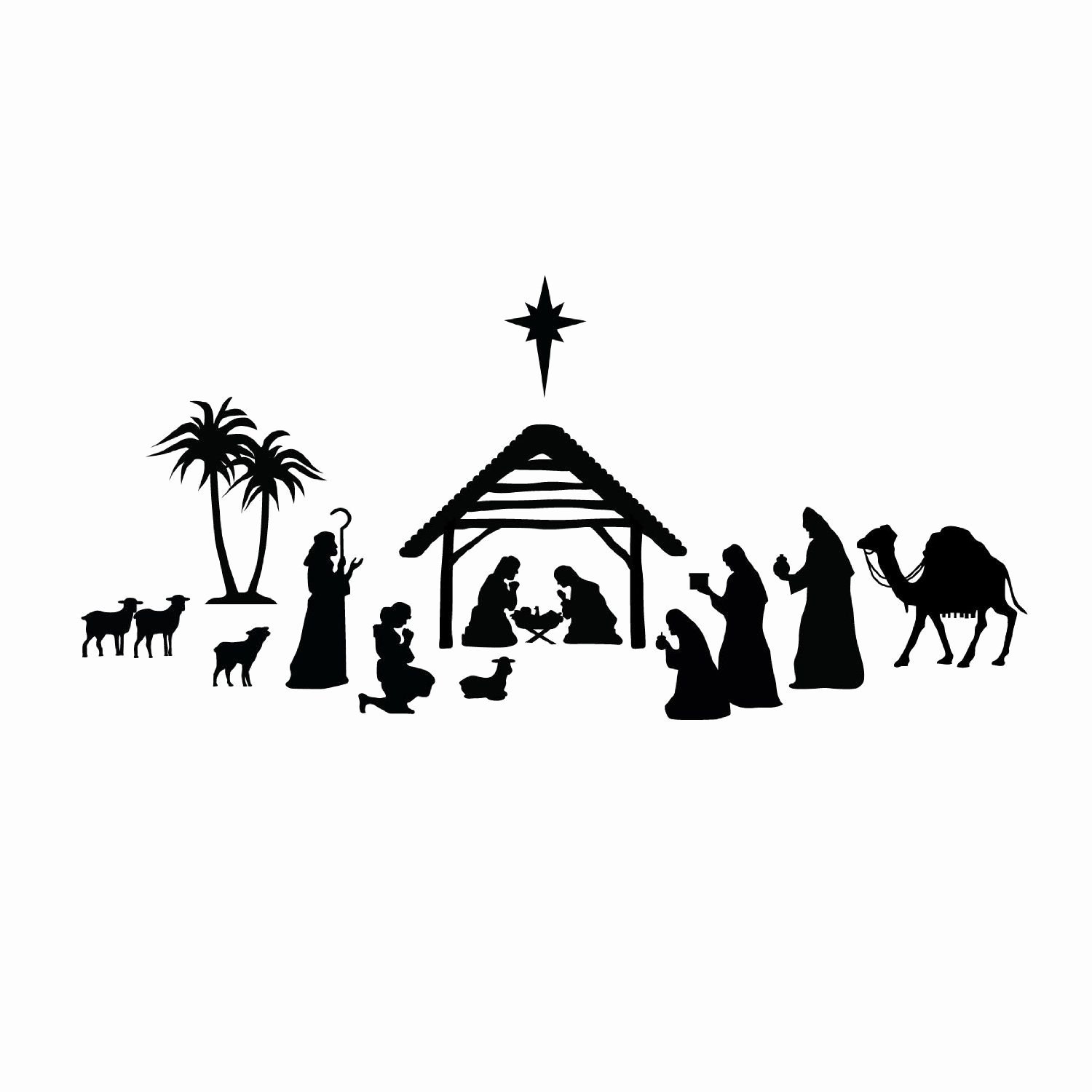 Nativity Silhouette Pattern Luxury Related Image Neat Diy Christmas Gifts