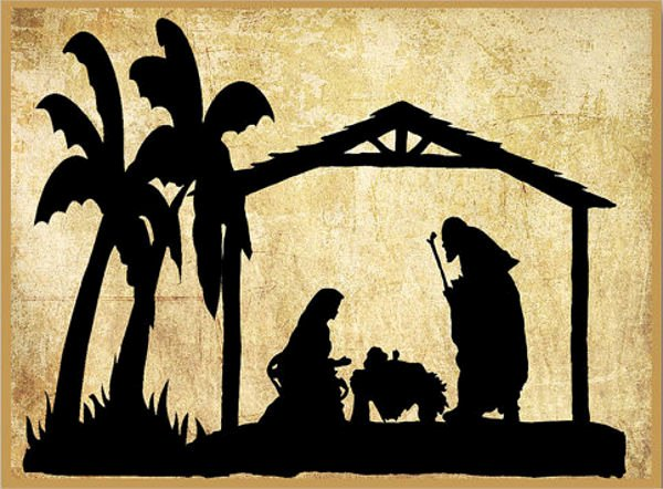 Nativity Silhouette Pattern Unique 9 Nativity Silhouettes Free Psd Ai Vector Eps format