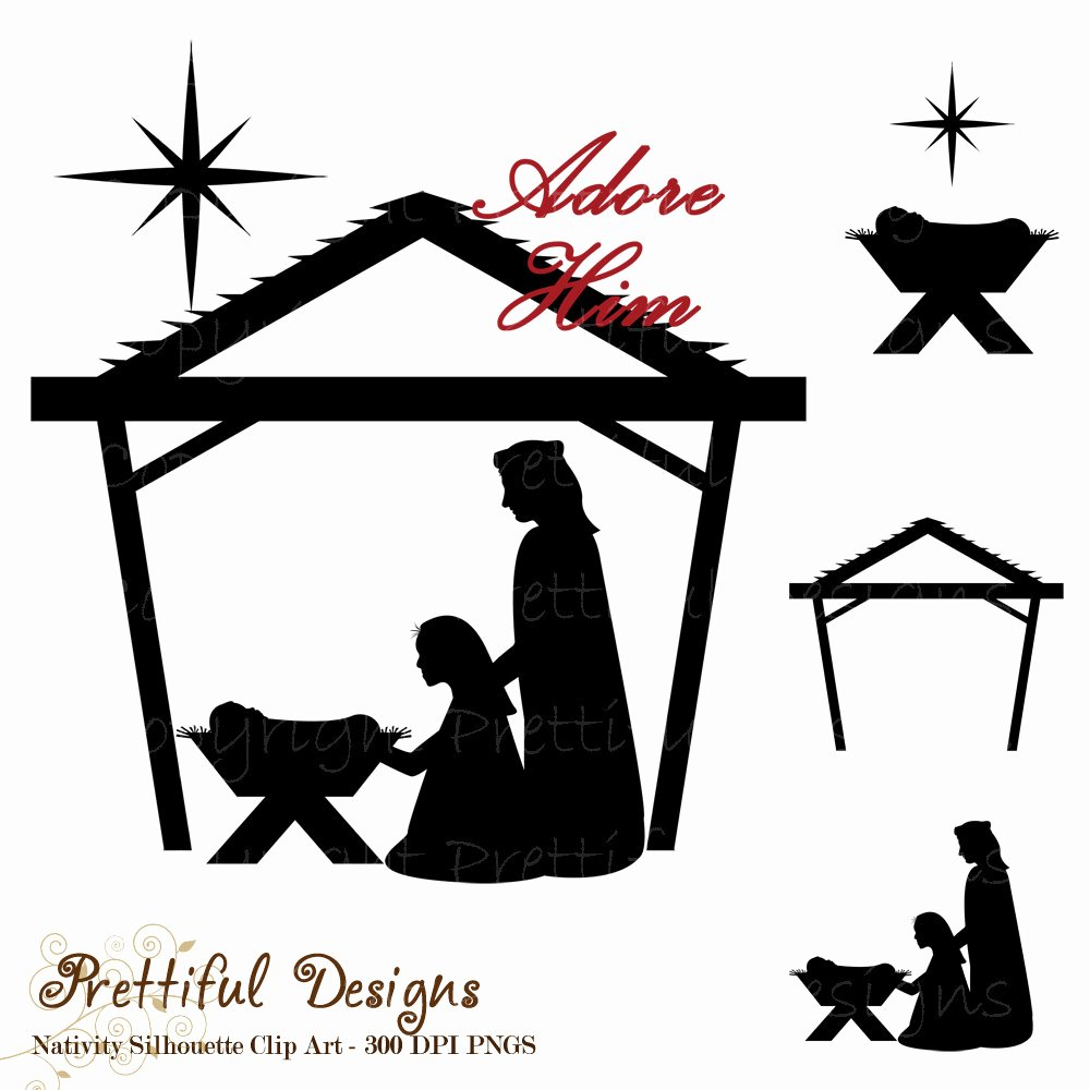 Nativity Silhouette Patterns Awesome Nativity Silhouette Clip Art Christmas Clipart for Mercial