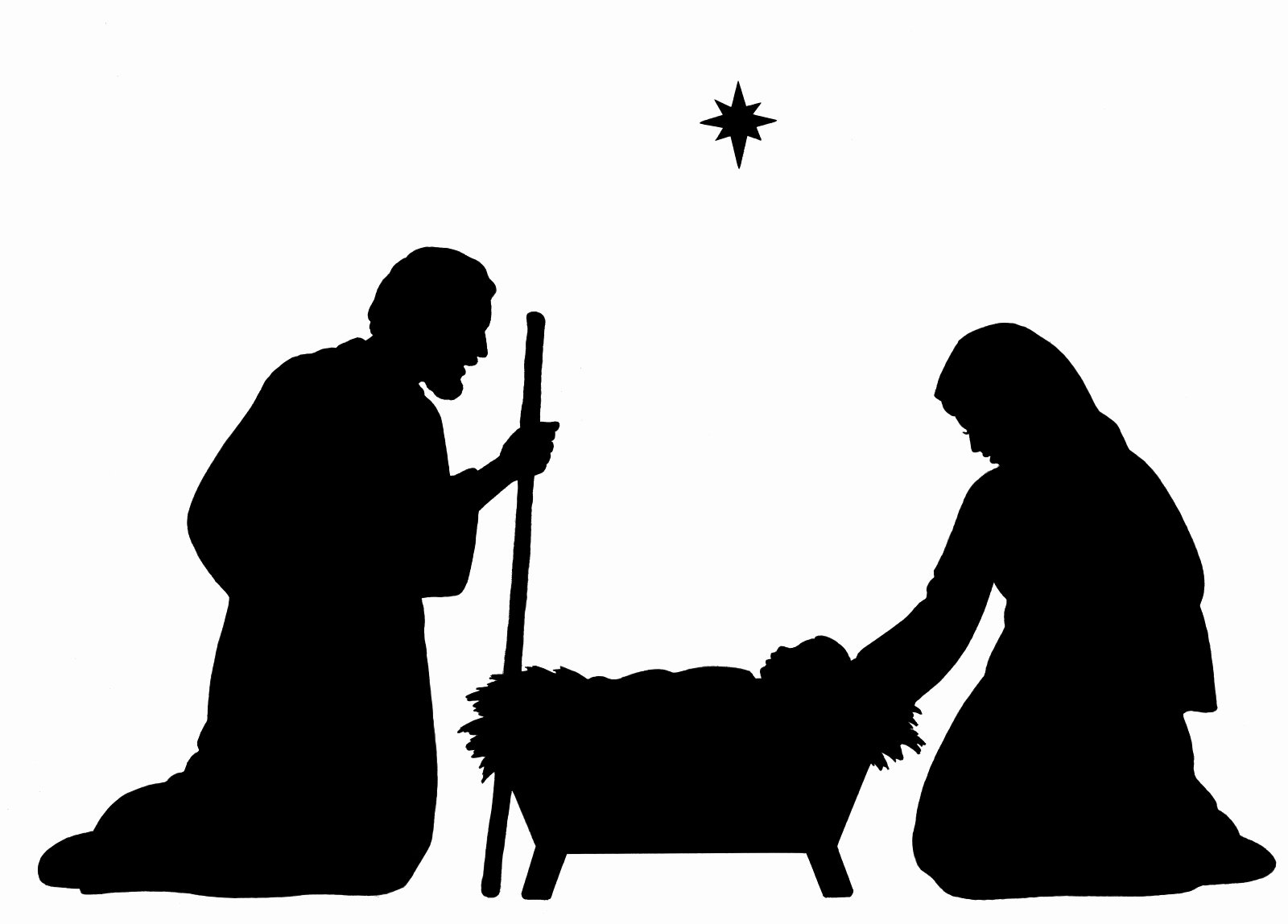 Nativity Silhouette Patterns Download Fresh Nativity Silhouette Patterns Clipart Best