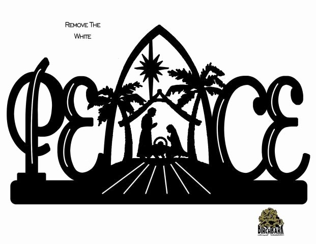 Nativity Silhouette Patterns Download New Peace Nativity Scroll Saw Pinterest