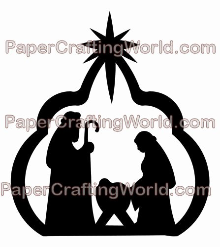 Nativity Silhouette Printable Awesome My Paper Crafting Day 18 No Room at the Inn