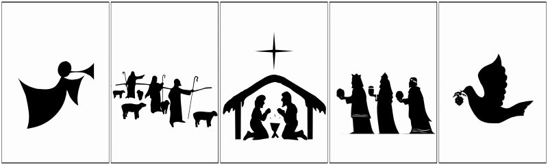 Nativity Silhouette Printable Best Of Free Printable Nativity Banner Un Mon Designs