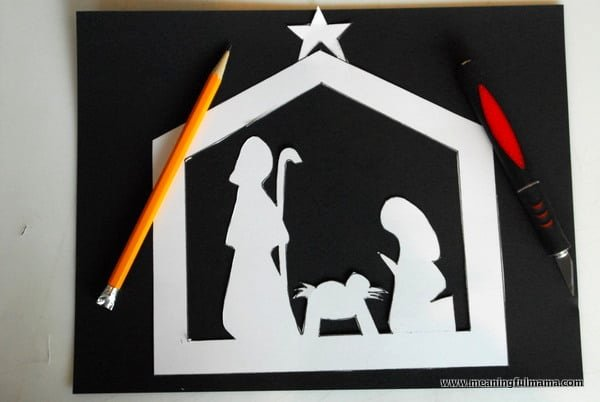 Nativity Silhouette Printable Elegant Stained Glass Nativity Craft Teaches Hope