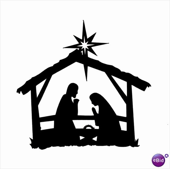 "Nativity Silhouette Printable New 10 X ""stable Nativity"" Silhouette Christmas Die Cuts In"