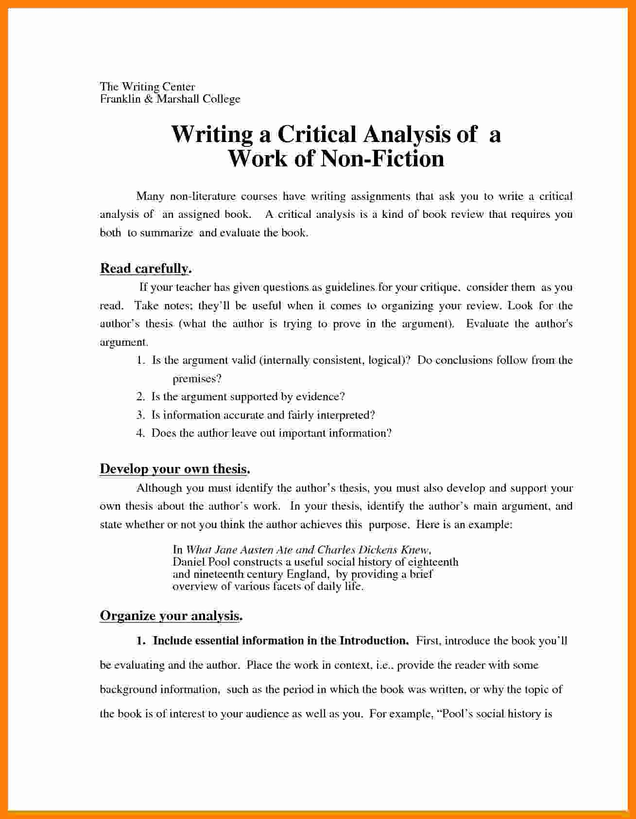 Neumann Scholarship Essay Examples New 5 Critical Analysis Essay format