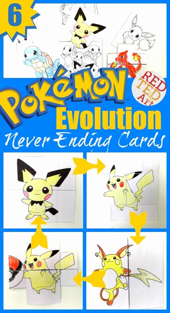 Never Ending Card Template Luxury Pokemon Evolution Cards Printables Printable