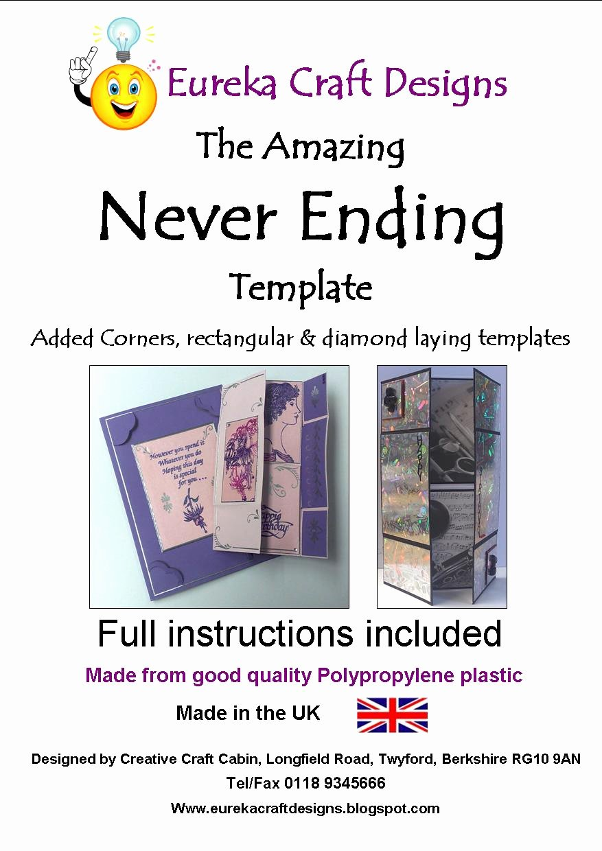 Never Ending Card Template Unique Eureka Craft Designs