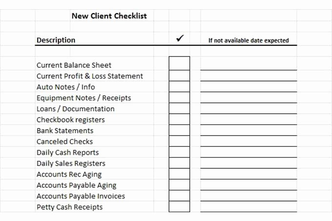 New Client form Template Awesome How to Open Your Own In Home Bookkeeping Service 3rd