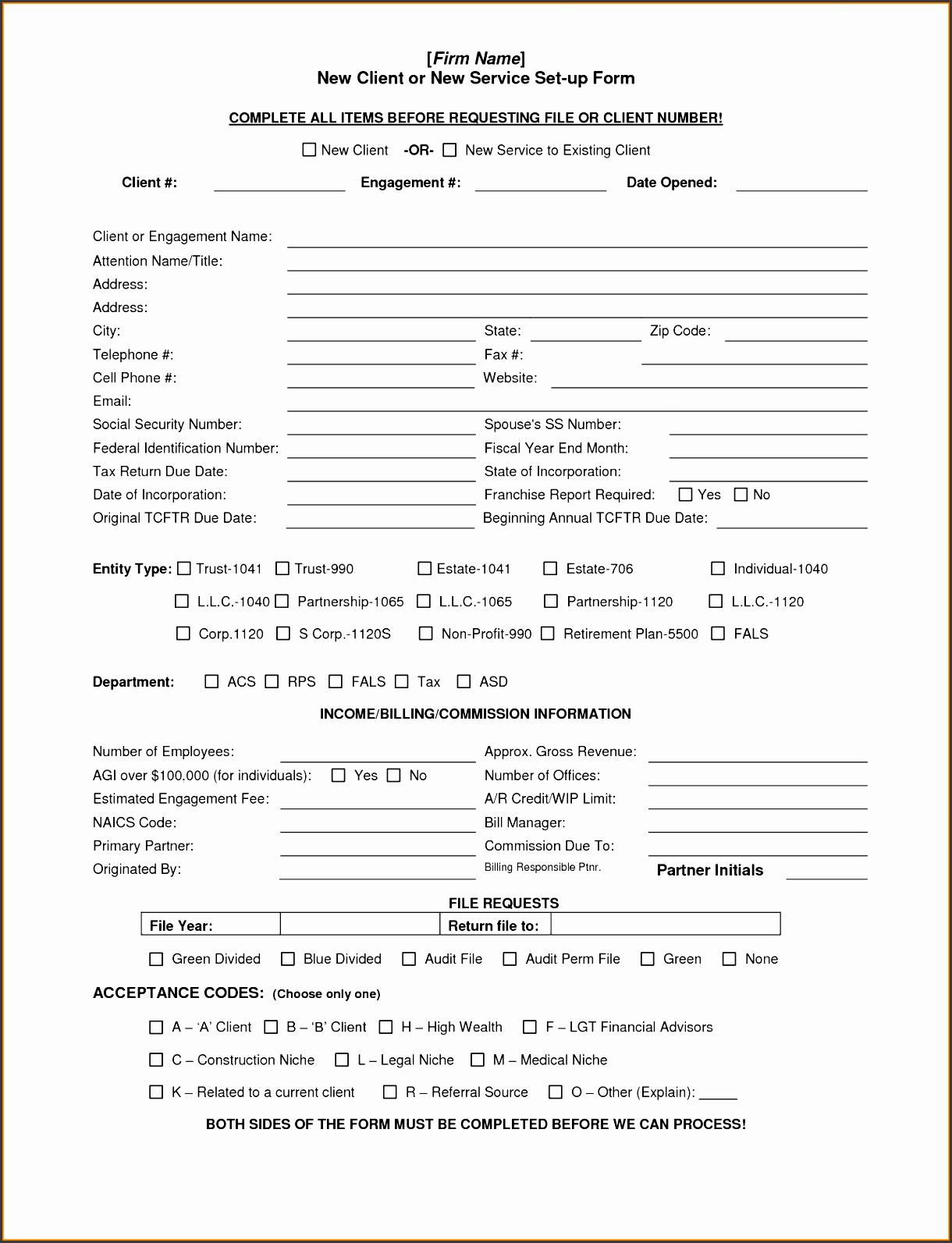 New Client form Template Fresh 6 Client Information Sheet Templates Sampletemplatess
