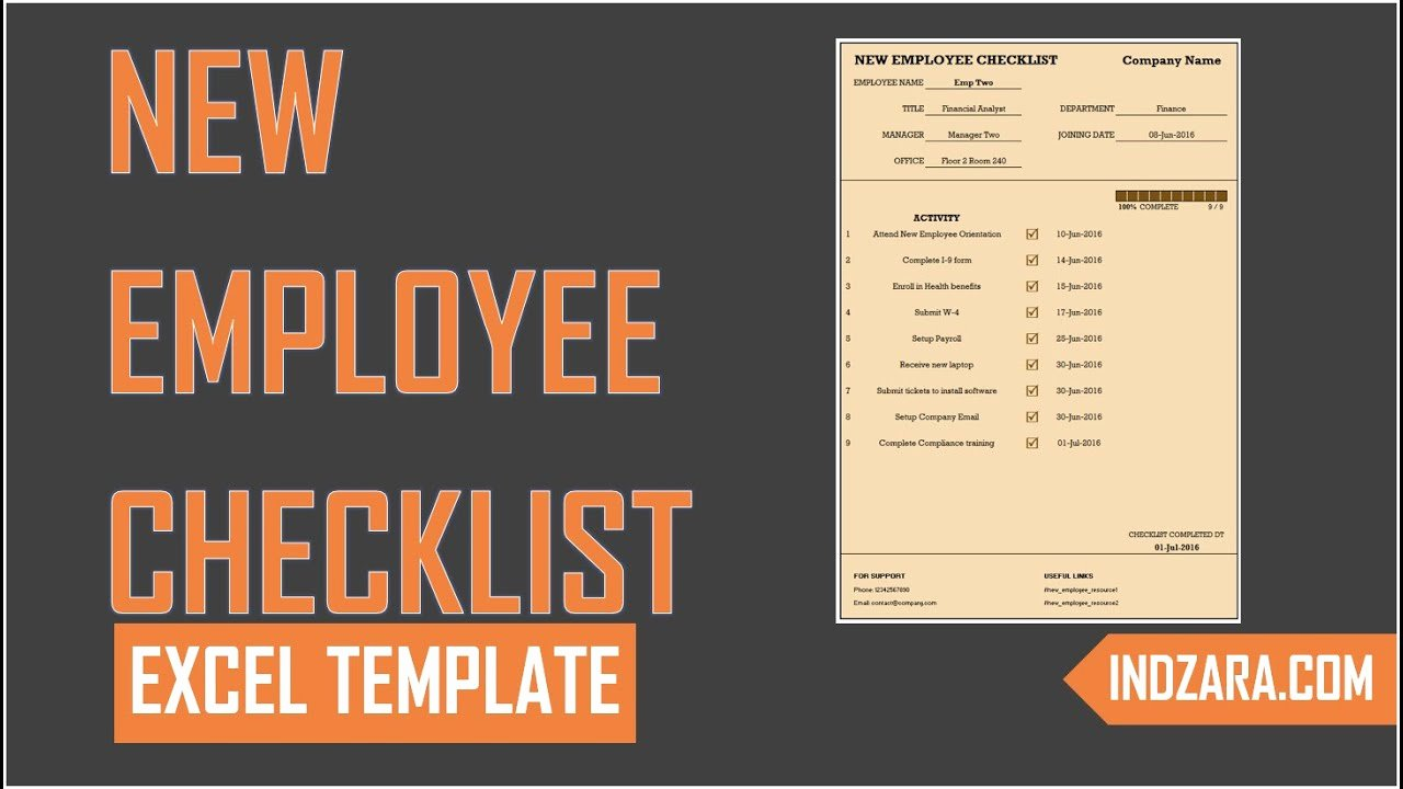 New Employee Checklist Template Excel Elegant New Employee Checklist Free Excel Template tour