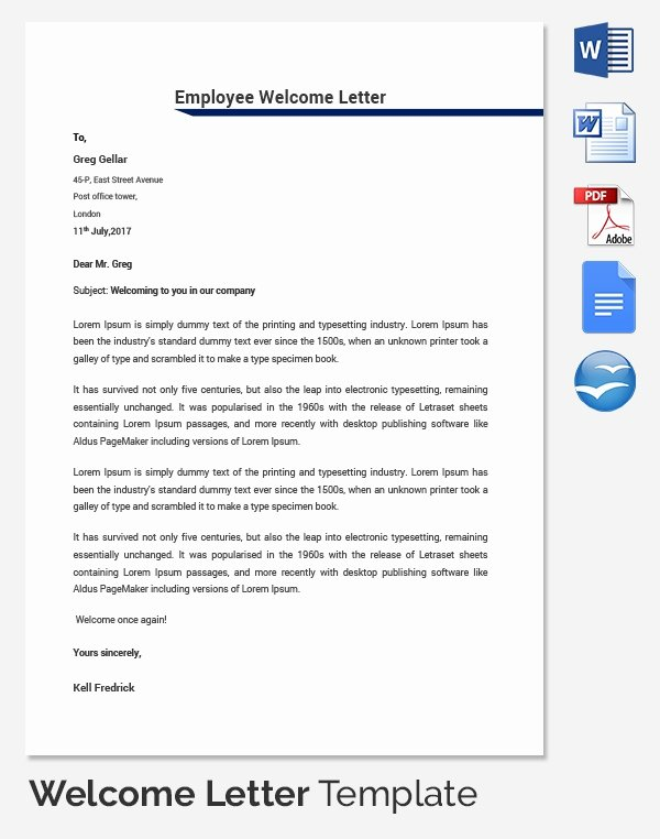 New Employee Welcome Packet Template Awesome 31 Hr Wel E Letter Template Free Sample Example