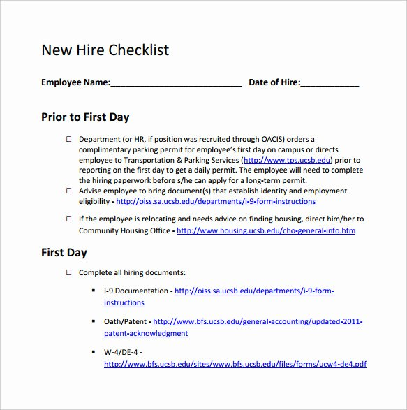 New Employee Welcome Packet Template Best Of New Hire Packet forms Bing Images