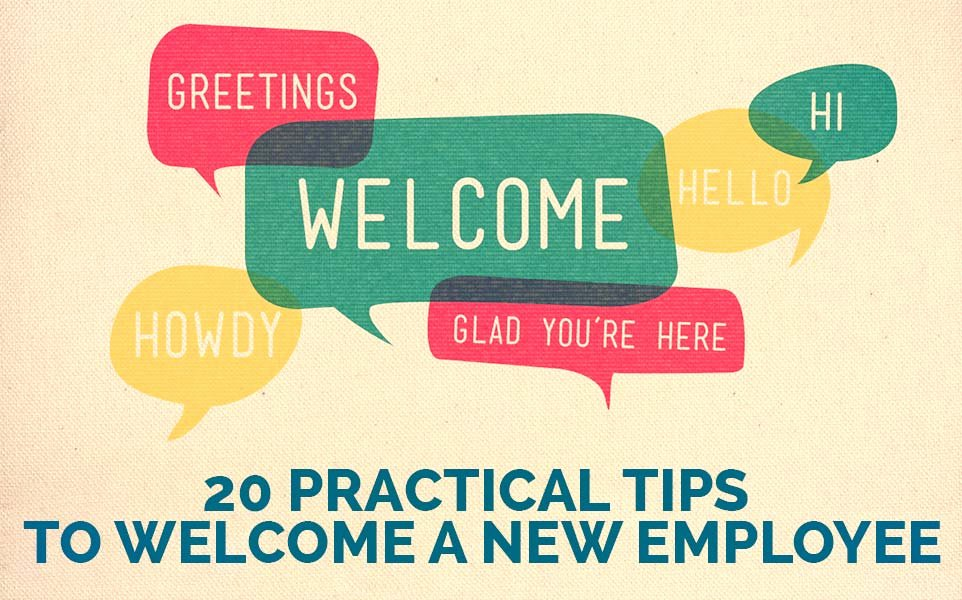 New Employee Welcome Packet Template Inspirational Wel E A New Employee 20 Tips for Success