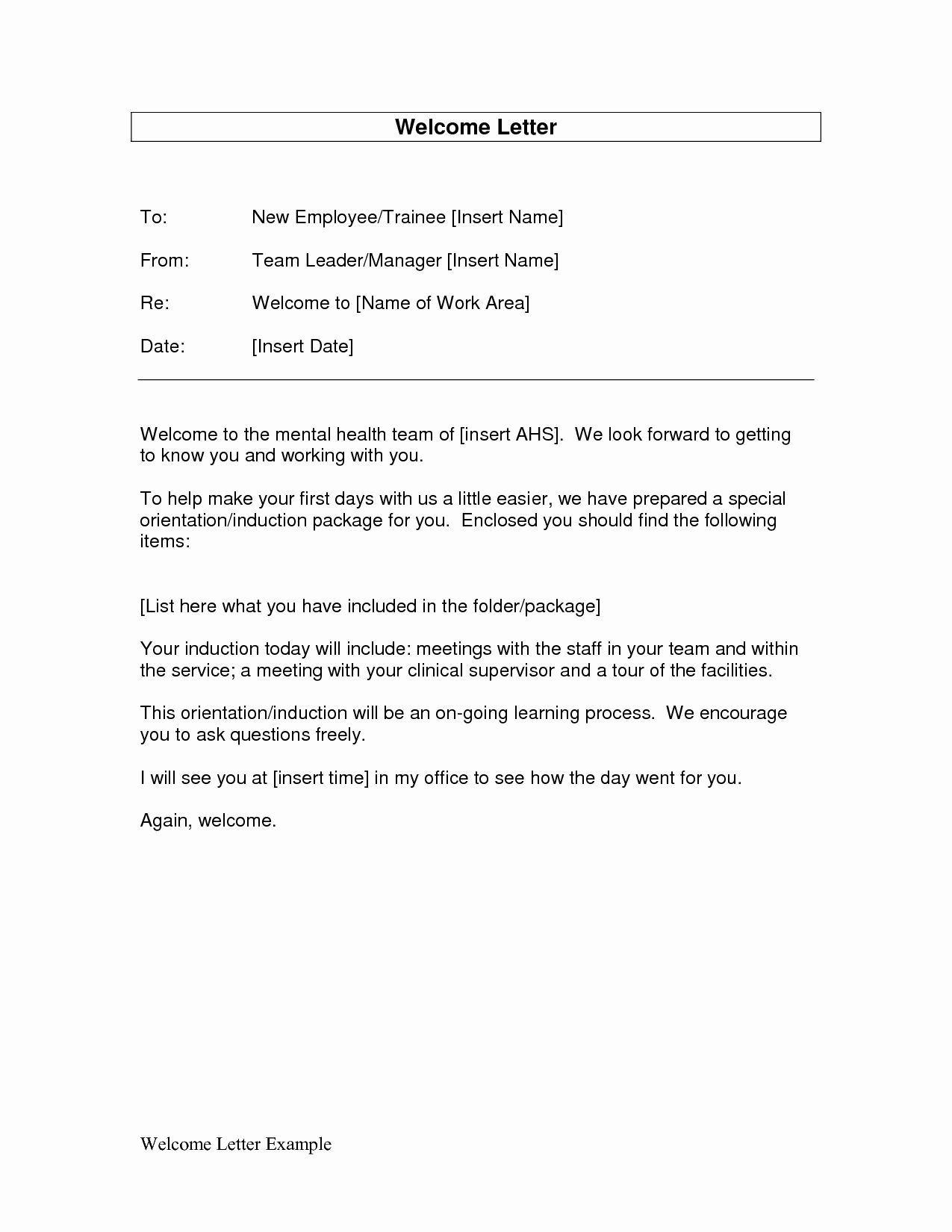 New Employee Welcome Packet Template Luxury Employee Wel E Letter as Well Handbook From President